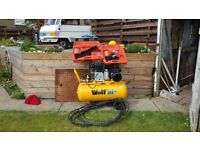 compressor and nail guns never been used,,great for diy workshop. new never been used.