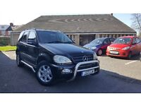2005 Mercedes ML270 2.7 CDI Automatic Turbo Diesel Black Colour SUV ML 270 ML320 ML 320 M Class X5