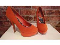 New Look Heel - Bright Orange - Size 6