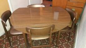 Large wood dining table