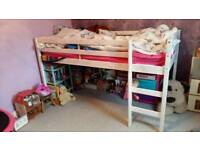 Single mid-sleeper bed in white
