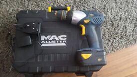 MAC allister cordless drill