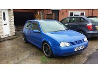 VW Golf TDI Blue 2 Door 18inch Matt Black Wheels Lowered PRICE REDUCED £600