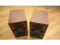 Superb quality AE100 main bookshelf stereo speakers Bi-Wirable, Rosewood veneer, excellent condition