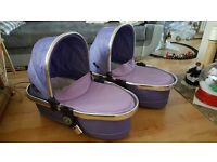 Two carrycot iCandy purple
