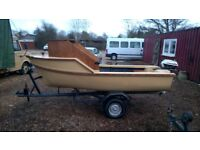 Novelty Boat ,10ft long , with Yamaha 3.5 outboard and trailer