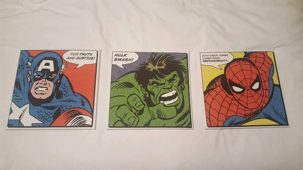 Set of 3 Marvel Avengers Canvases
