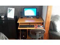 DELL VOSTRO 200 DESKTOP COMPUTER,MONITOR,DESK,CHAIR