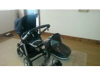 I candy apple pushchair with carrycot and rain cover for both pushchair and carrycot