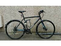 "Edinburgh bicycle co-operative revolution courier race hydraulic '15 black/blue 22"" never used!"