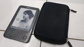 "Amazon Kindle (3) Keyboard Wi-FI 6"" e-Ink eReader"