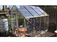 Aluminium Glass Greenhouse 9' X 6'