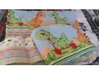 Cot bed bumper and duvet cover