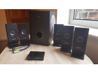 Creative 5.1 surround sound system with USB external sound card