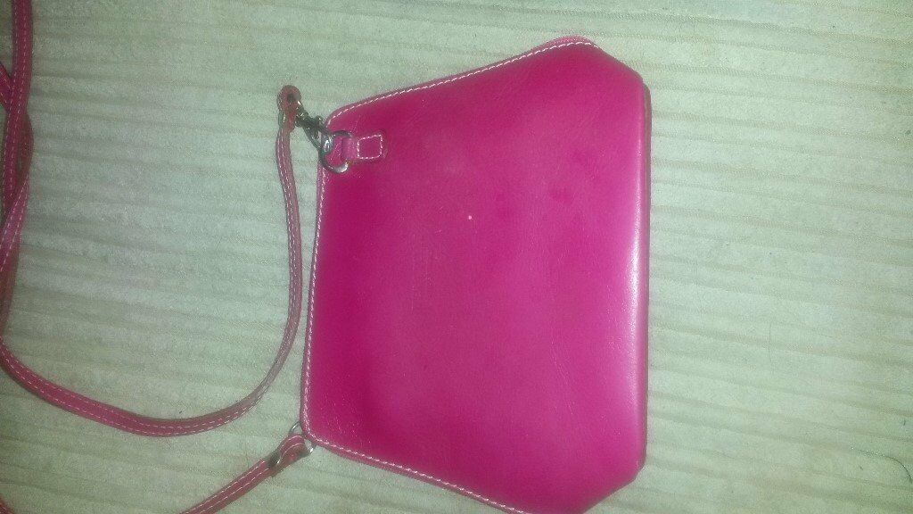 Pink Leather Mini Handbag