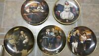 Norman Rockell collector plates