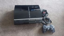 Ps3 playstation 3 cosole and wireless controller