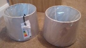 Brand new Debenhams pair of matching light lamp shades
