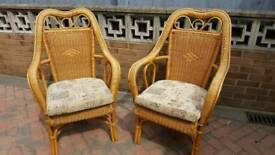 Pair conservatory chairs