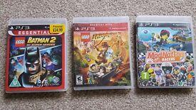 3 games Playstation -Lego Batman 2 Super heroes -Lego Indiana Jones -ModNation racers