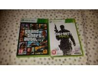 Xbox360 games immaculate grand theft auto and cod