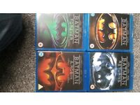 Batman Anthology blu ray. Tim Burton movies