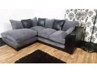 New black&Grey corner sofa**Free delivery**