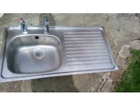 Sink unit and taps for sale