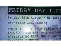 Reading Festival 2016 Friday Tickets for sale, collection only in London