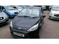 2009 FORD KA 1.3 STYLE IN BLACK WITH AUG 2017 MOT 62K NEW SERVICE CD E/WINDOWS + MIRRORS £30 TAX +