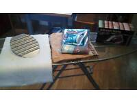 Ironing Board Bundle (Immaculate frame condition) with New Ironing Board Cover & Iron