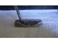 "Ping Zing Putter - Karsten 59, 34"", Standard Fit, Super Stroke Grip - Nearly New"