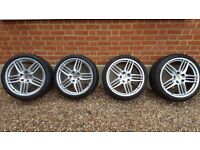 Porsche wheels genuine 20 inch Sport Design alloy wheels (and tyres)