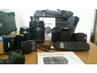 Canon 1100D + 2x lens & extras