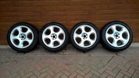 "BRABUS 20"" alloy wheels with really good tyres."