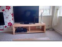 Beech effect TV unit