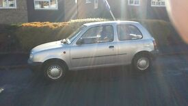 Nissan micra 1.0 Silver. Low mileage