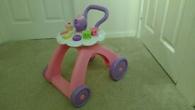 Toddlers pushalong toy, tea-party style, with music