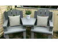 Chunky chairs bespoke garden furniture