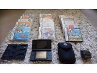Nintendo DS with games and accessories