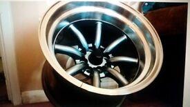 4x Japan Racing JR19 15x9 15x10.5 4x100/114 Gunmetal Alloy Wheels RS Watanabe