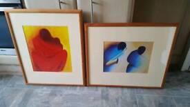 2 massai mara framed pictures