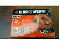Black&decker jigsaw 400w like new