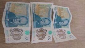 5£ banknotes
