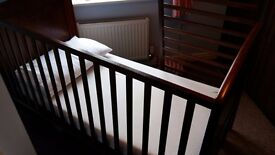 Gorgeous dark wood cot bed