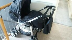 REDUCED FOR QUICK SALE xxx silvercross ebony pram excellent condition