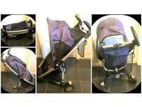 QUINNY ZAPP BUGGY in Purple+raincover+carry bag+shopping basket+travel bag &more