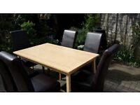 IKEA Extending table and 6 chairs - DELIVERY AVAILABLE