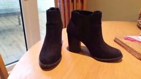 Size 6/39 Ladies Black Suede Ankle Boots. Perfect condition as only worn once.