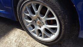 MGTF ALLOY WHEELS AND TYRES